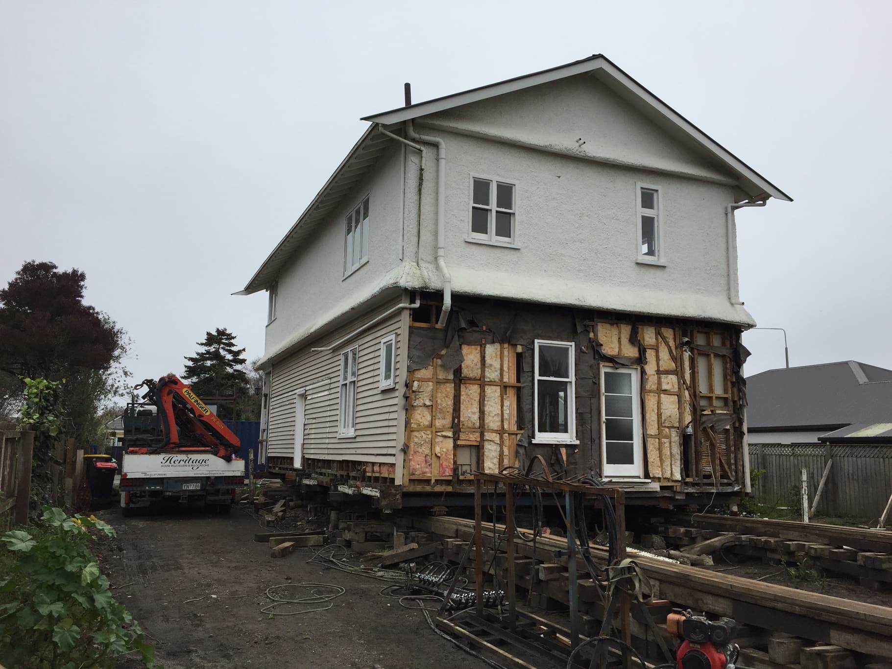 House rolling and foundation repair job in Canterbury