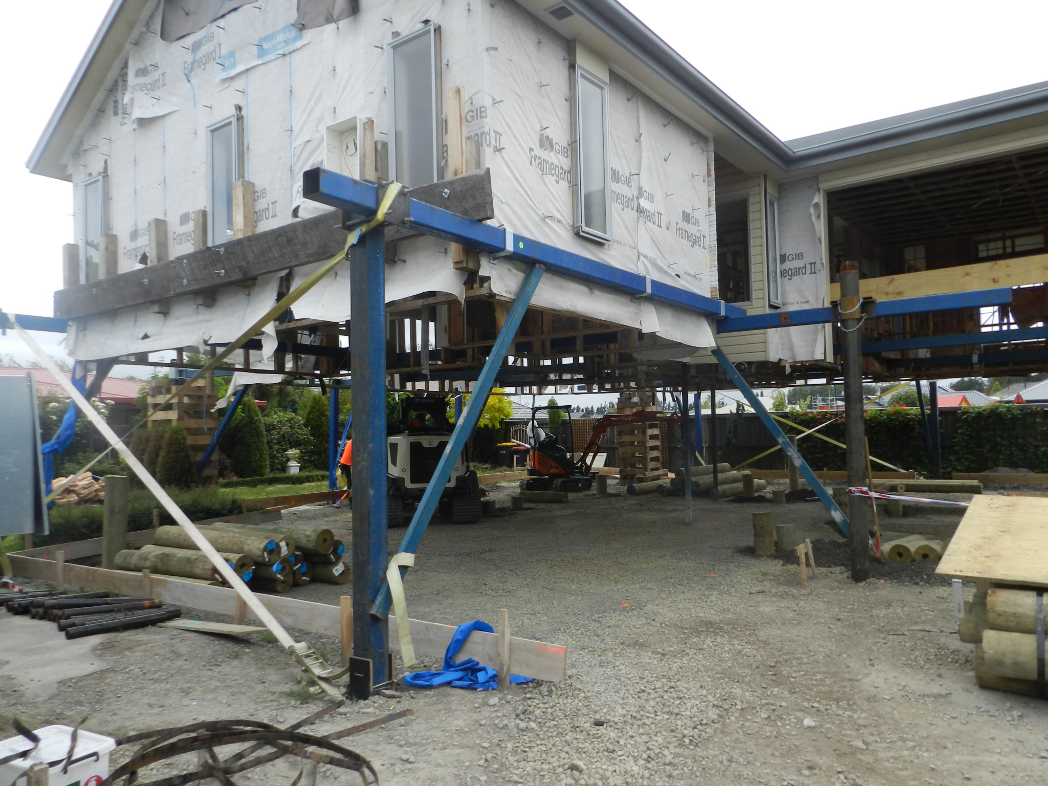 Canterbury house lifting and foundation replacement service in Christchurch